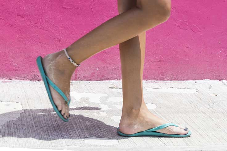 Summer footwear can effect how you walk